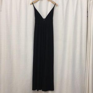 Max studio deep-V neck  maxi dress
